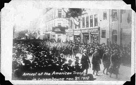 American Troops enter Luxembourg  Nov 21 1918