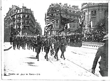 4th of July 1918 Paris France