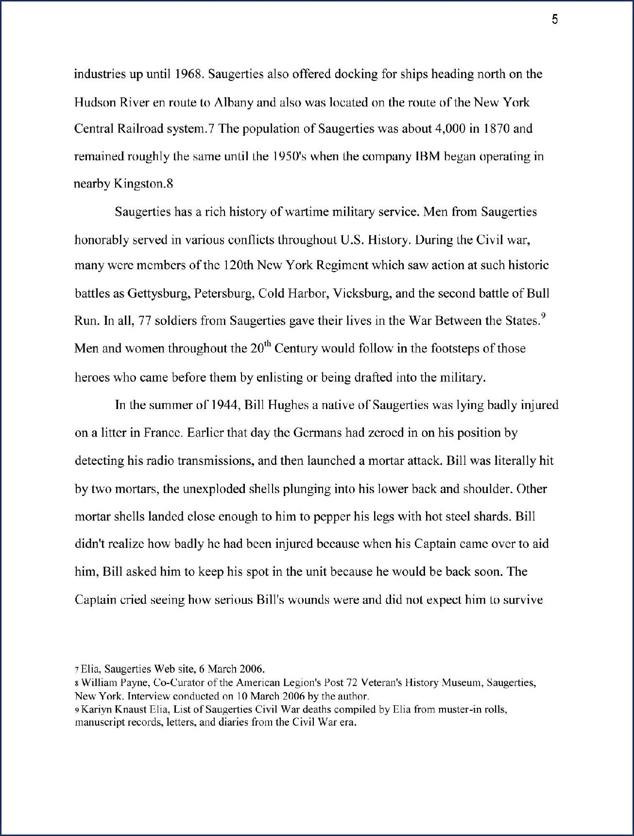 War veteran interview essay